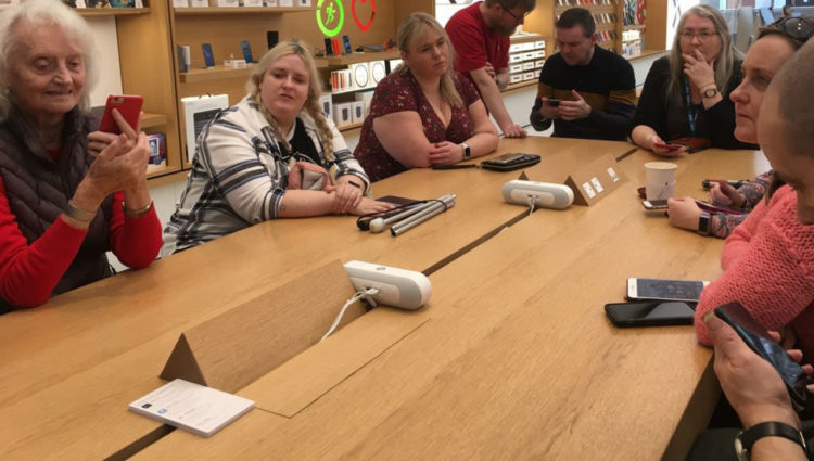 Image showing the Apple Accessibility Workshops with Merseyside Sight Loss Council