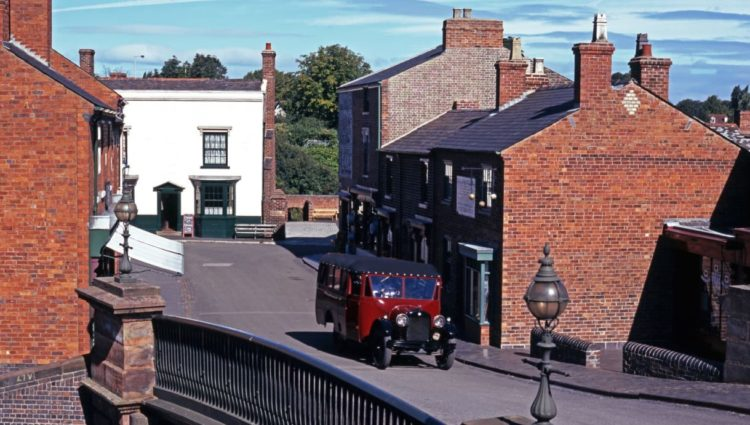 Red brick buildings in the Black Country