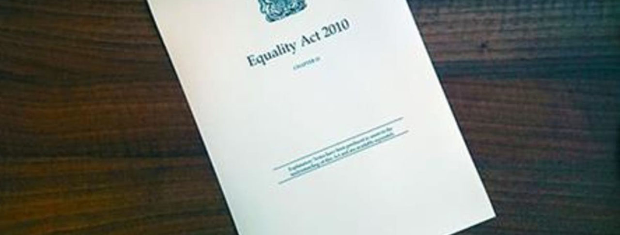 Image showing paper copy of the Equality Act 2010