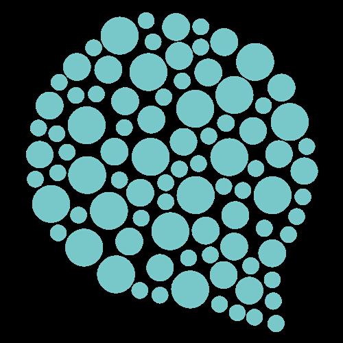 Stylised speech bubble