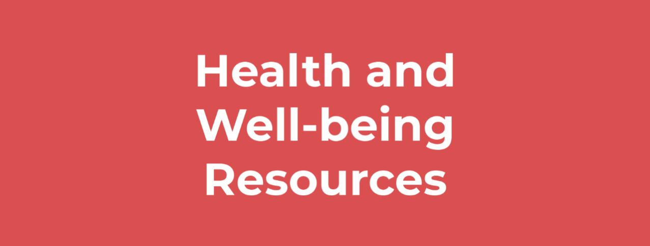 Health and Well-being Resources
