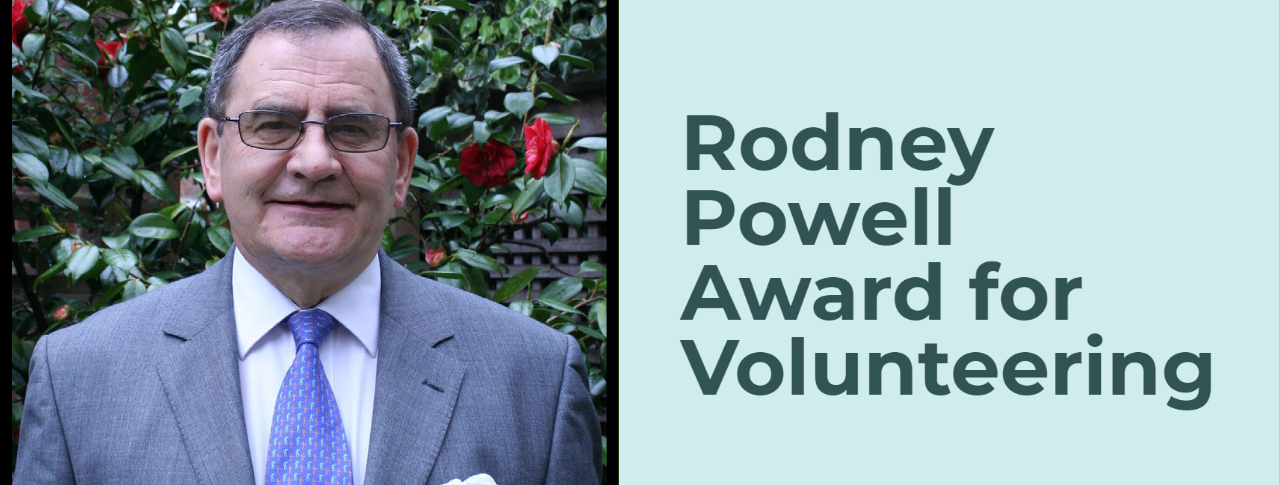 A picture of Rodney Powell and the description: Rodney Powell Award for Volunteering.