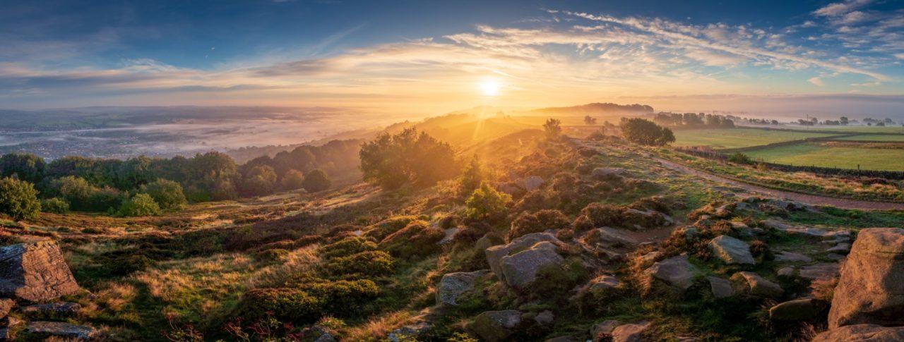 Sunrise over Otley West Yorkshire